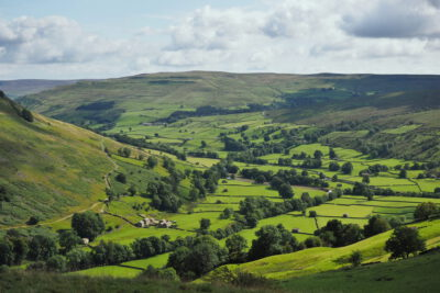 View into Swaledale (to the south-east) from the Pennine Way along Kisdon hill