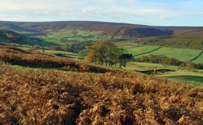 Rolling hills and moorland